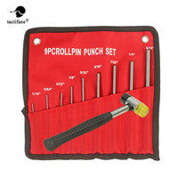 Professionele Roll Pins Punch Set Bolt Vangst Dubbele Geconfronteerd Zachte Rubber Mallet Hamer Tool Kit 9-pcs Roll Pin Punch sets