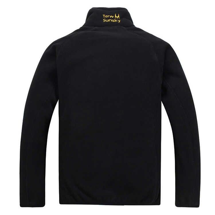 冬暖かい極性サンゴフリース男性のジャケット Snowimage 防風厚い熱可逆コート男性プラスサイズのアウター服