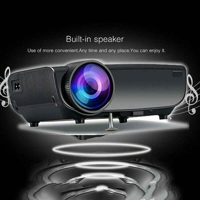 New LED Projector Home Office HD 1080p 3D Mobile Phone Wifi Wireless with Screen Projector Portable Projection for Android/IOS