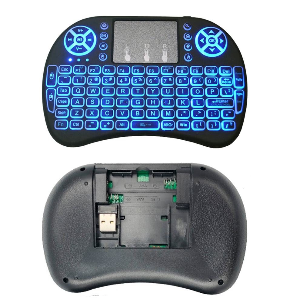 New I8 Keyboard 2.4GHz Air Mouse Wireless Keyboard Remote Control Touchpad For Android TV Box 8.1 T9 X96 Mini TX3 Min X96