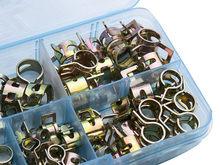 75 sztuk/zestaw 6-10mm Q673B próżni wiosna oleju opałowego wody CPU wąż klip rury rury dla zespół zacisk Metal zapięcia asortyment Kit