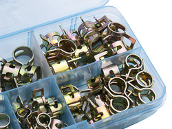 75Pcs/set 6-10mm Q673B Vacuum Spring Fuel Oil Water CPU Hose Clip Pipe Tube for Band Clamp Metal Fastener Assortment Kit