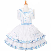 Japanese Style Mori Girl Lolita Dress Sailor Collar Kawaii Cute Patchwork Color Princess Maid Costume Stage Ball Gown Customized(China)