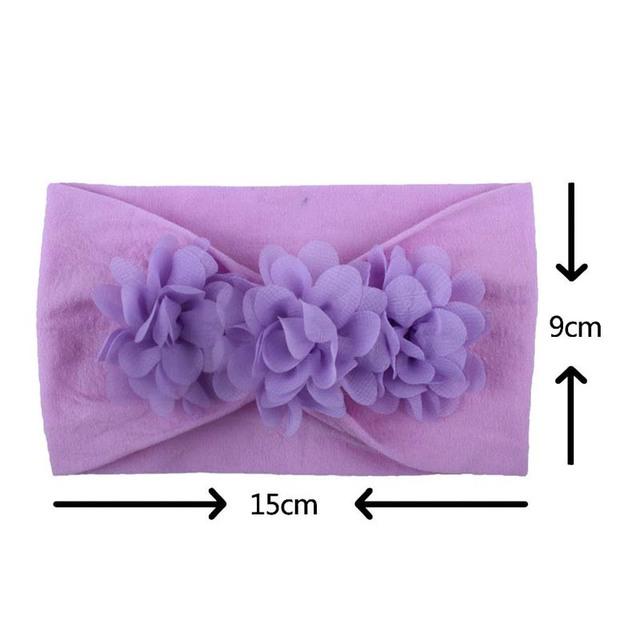 2019 Brand Toddler Girls Kid Baby Bow Hairband Headband Cute 3D Flower Stretch Turban Flower Head Wrap New Princess Accessories