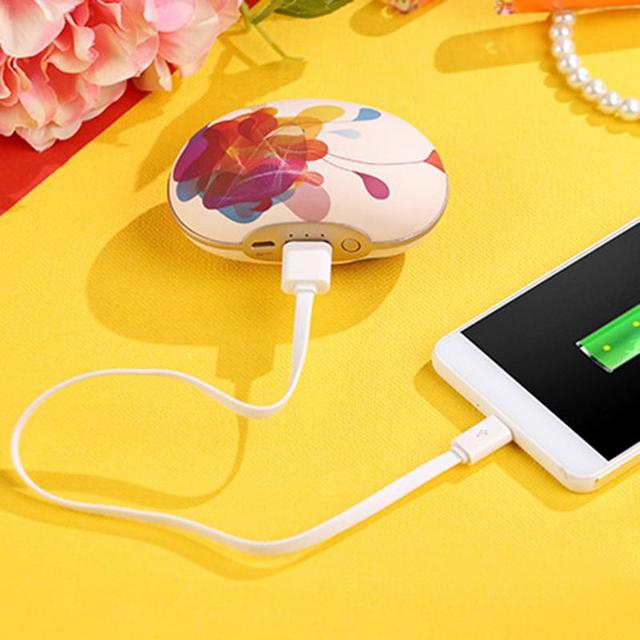 Big Sale Compact Portable USB Charging Hand Warmer Peas Printing Massage Universal Hand Warmers Winter Essential Warm Equipment Supplies