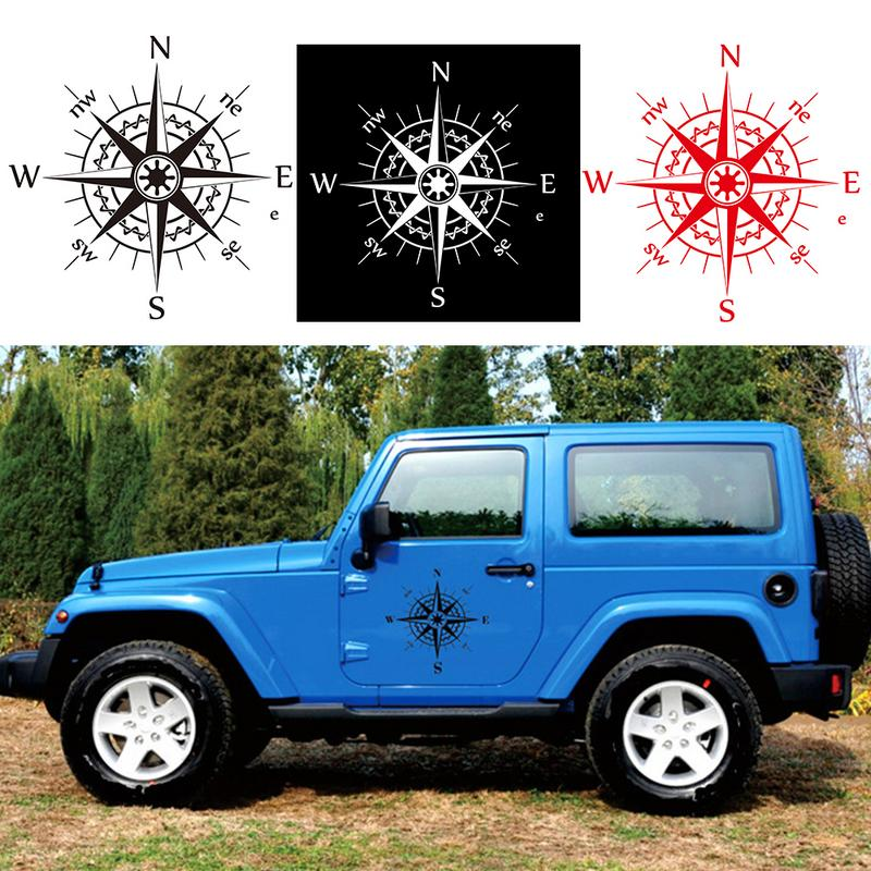 50x50cm Hood Car Sticker Compass Pattern Universal Personality Creativity Car Body Protection Beauty Decal Auto Accessories in Car Stickers from Automobiles Motorcycles