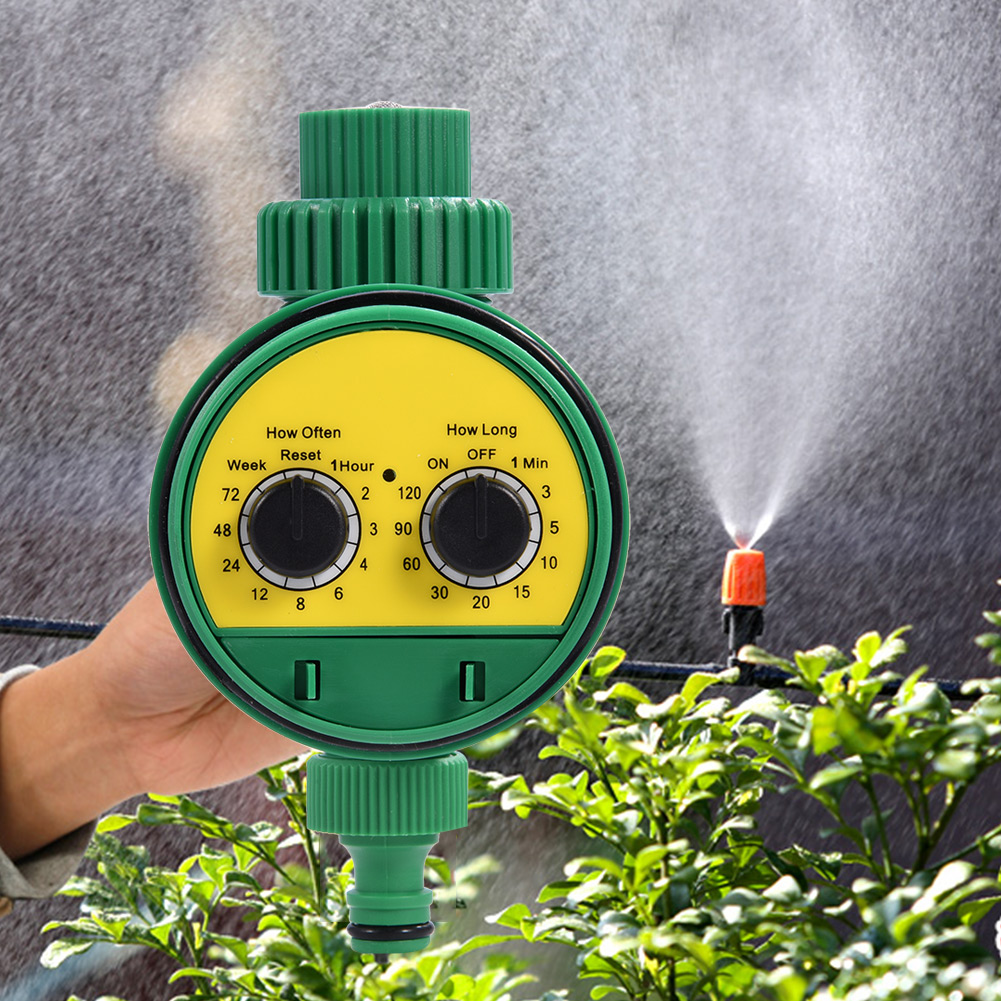 Fashion Two Dial Automatic Electronic Watering Timer Multi-function Garden Irrigation Controller Garden Supplies(China)