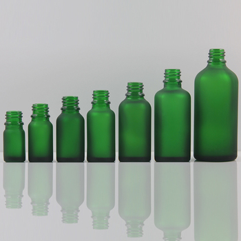 refillable bottle green and frosed green China factory 20ml pharmaceutical glass vails , DIY olive glass bottles