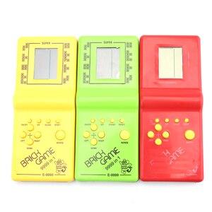 Image 3 - Powstro Tetris Mano Elettronico LCD Giocattoli Divertente Gioco di Puzzle Di Mattoni Di Puzzle Palmare Console di Gioco