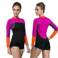 SBART 2mm Neoprene Split-type Prevent UV Jellyfish Diving Wetsuit Tops Women Beach Surf Snorkeling Jacket Swimwear Anti-stab недорго, оригинальная цена