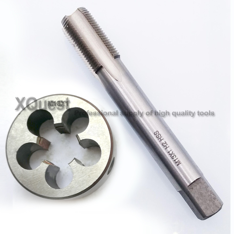 1set HSS Metric Hand Tap And Die Set M13 M13X1 M13X0.75 13X1.5 Fine Screw Thread Plug Tap Round Dies M13X1.5 M13X1.25 M13X0.5