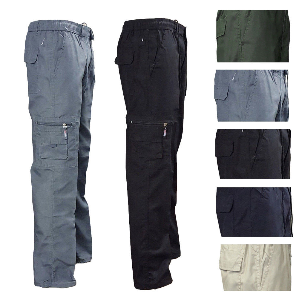 Camping Hiking Army Cargo Combat Military Mens Straight Warehouse Trousers Pants Skinny Slim Casual Pants Black Grey Beige
