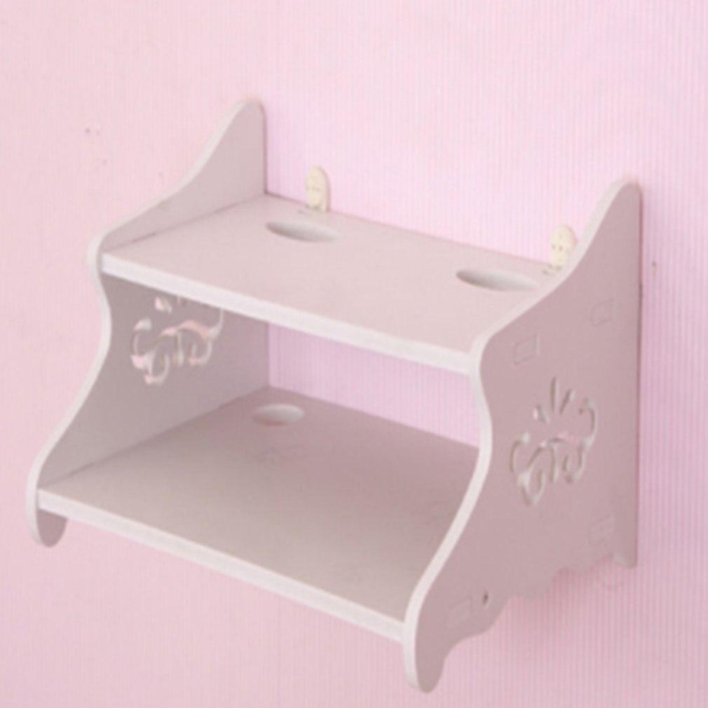DemüTigen Kreative Wohnzimmer Punch-freies Router Rack Router Lagerung Partition Set-top-box Wifi Dekorative Box Weiß