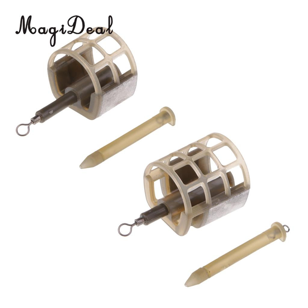 Fishing Quick Change Feeder Lure Bait Cage Feeder Fishing Traps Basket with Lead Sinker for Fishing with Meat Pellets Tool 25g Кормушка