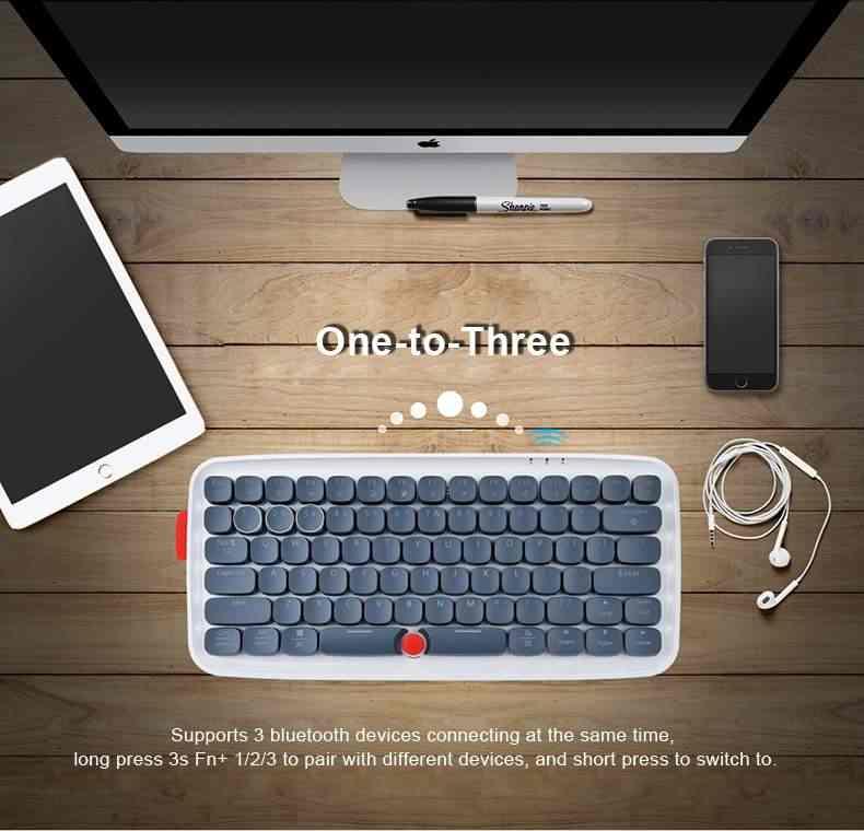 AJazz Zero Bluetooth Проводной синий переключатель RGB Механическая игровая клавиатура для ноутбука планшета Настольный ПК игровая клавиатура