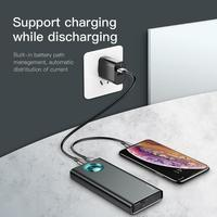 Baseus 20000mAh mobile Phone Power Bank Digital Display PD3.0 Fast Charging Portable External Battery for iphone XR