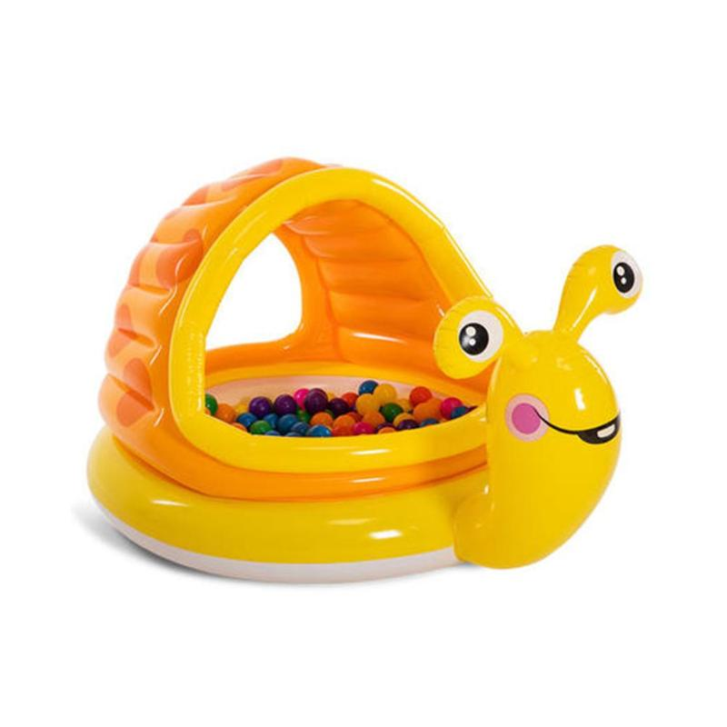 Piscine gonflable portative de bébé de bande dessinée de PVC de baignoire de bassin d'eau avec le parasol gonflable de soutien d'anneau supérieur