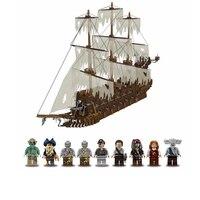 3652 шт. сериалы Летающий Нидерланды корабль модель здания Совместимость LegoINGlys Moc 16016 Конструкторы Кирпичи Классические игрушки