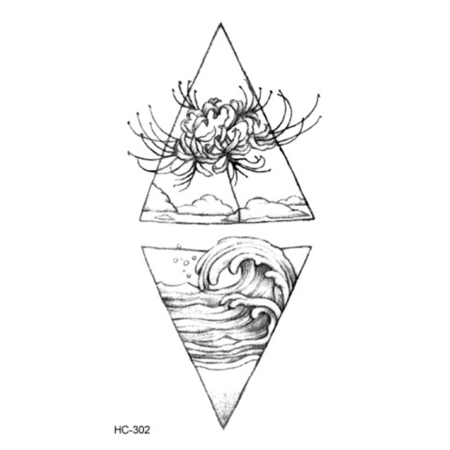 Hot 1PC Popular Ballet Black White Flowers Tattoos Sticker Temporary Drawing Body Art Fake Water Transfer