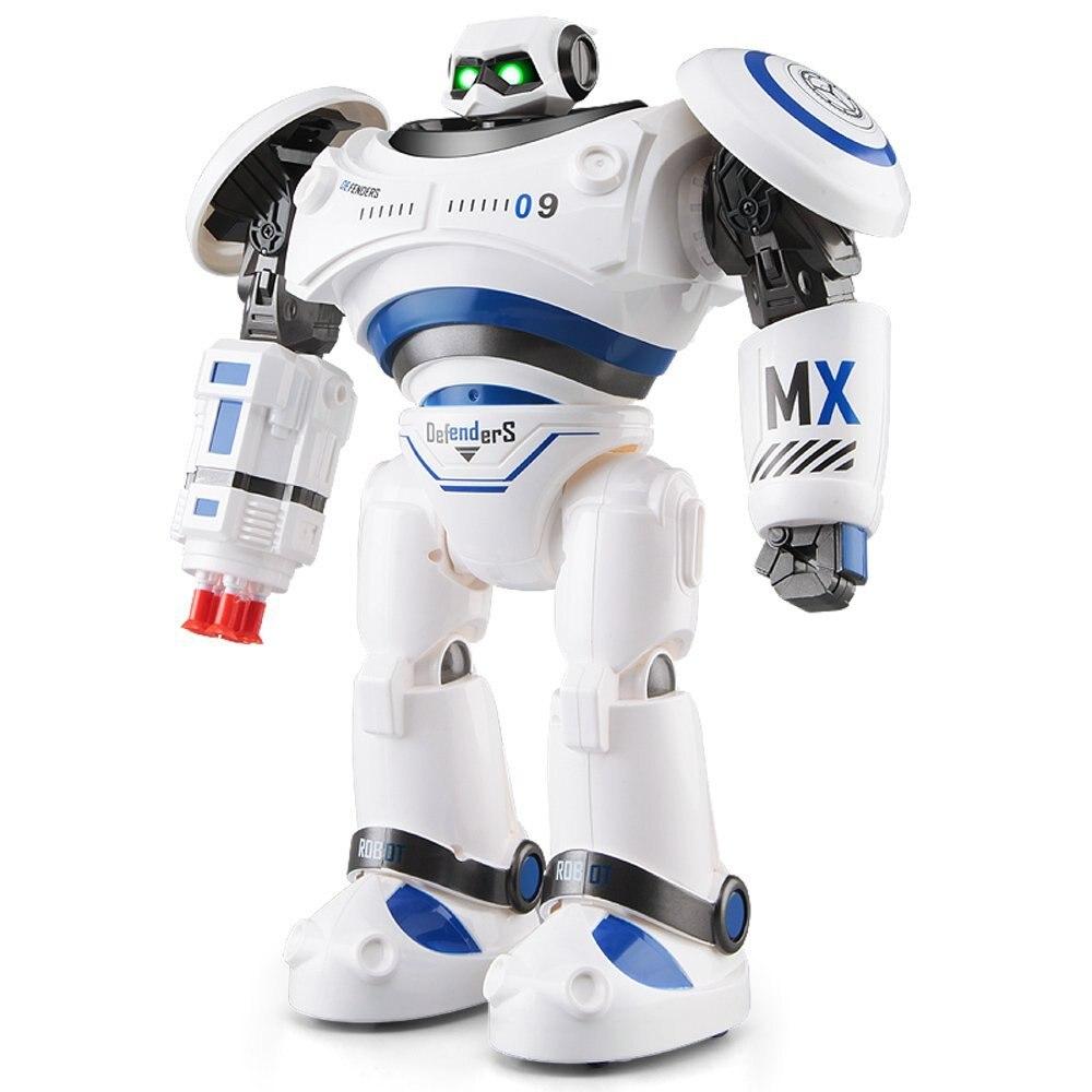 JJR/C JJRC R1 RC Roboter AD Polizei Dateien Programmierbare Kampf Defender Intelligente RC Roboter Fernbedienung Spielzeug für kinder