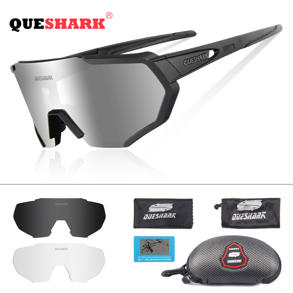 3e462fd6abd2 QUESHARK 2019 New Design Polarized Cycling Glasses For Man Women ...