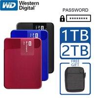 WD 1 ТБ 2 ТБ внешний жесткий диск Портативный шифрование пароль компьютер HDD HD SATA USB 3,0 мой паспорт ультра устройство хранения