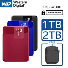 WD 1 테라바이트 2 테라바이트 외장형 하드 디스크 휴대용 암호화 암호 컴퓨터 HDD SATA USB 3.0 My Passport Ultra 저장 장치