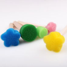 Flower Pattern 5-25Pcs Colorful Creative Sponge Brush Children Art DIY Painting Tools Baby Funny Drawing Toys Gift Soft