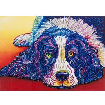 5d Diy özel şekilli Elmas Boyama Renk Köpek çapraz Dikiş Dikiş Nakış