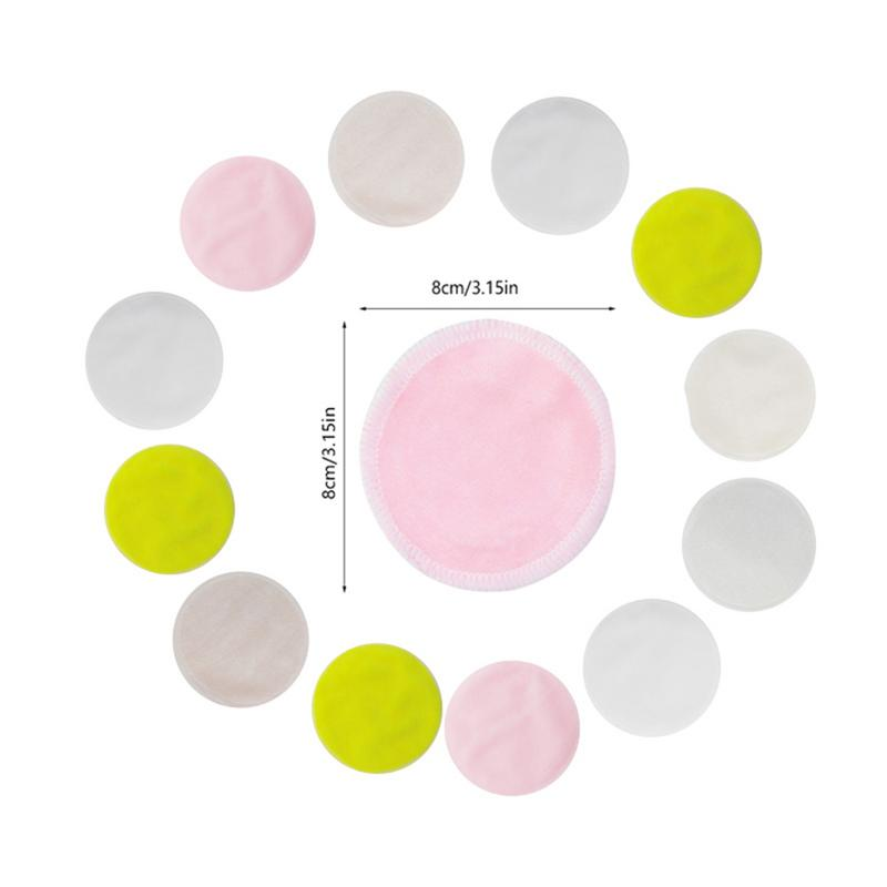 Radom Color 10pcs Bamboo Cotton Reusable Skin Care Face Wipes Washable Deep Cleansing Cosmetics Tool Round Makeup Remover Pad 2