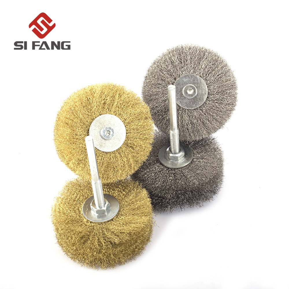 4Pcs 80mm Stainless Steel Wire Copper Wire Wheel Brush Set For Rust Removal Polishing 6mm Shank