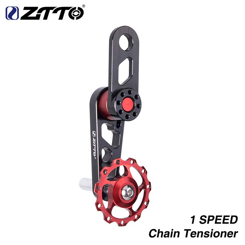 Bicycle Chain Tensioner ZTTO Aluminum Alloy Tension Adjust MTB Bike Single Speed Converter Light Weight