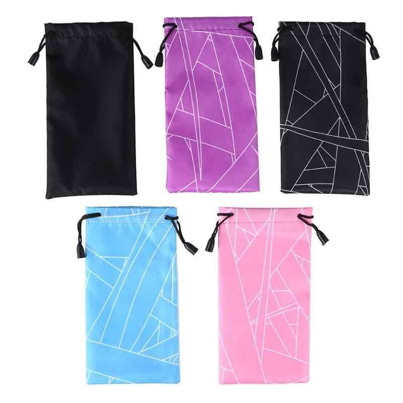 الرجال النساء مخطط في الهواء الطلق النظارات حامي الحالات حاوية الإناث التزلج النظارات الشمسية تخزين الحقائب القماش نظارات حقيبة حمل