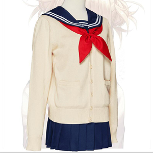 Image 4 - My Hero Academia Cosplay Costume Boku No Hero Academia Himiko Toga Women Sailor JK Uniform Mini Pleated Skirt Suit Cardigans Set