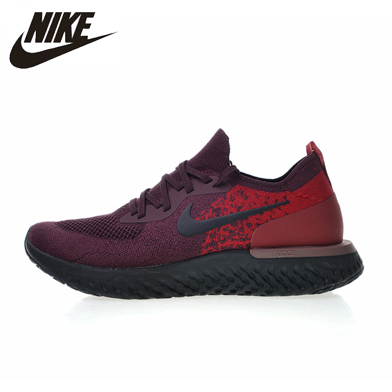 NIKE Mens Running Shoes Epic React Flyknit Breathable Sport