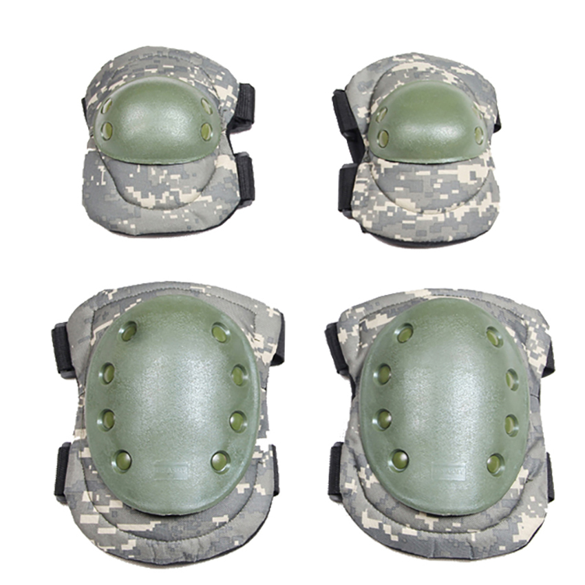 Tactical Outdoor 6colors Protective Kneepad Elbow Pads Army Support Airsoft Paintball Combat Knee Hunting Milirary Unifom