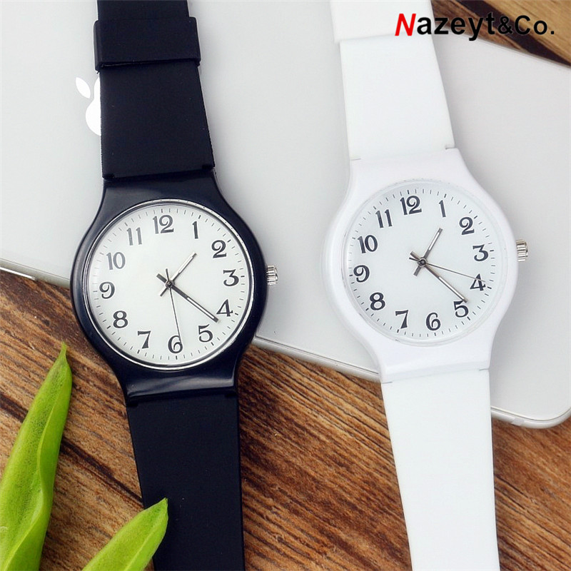 Nazeyt New Fashion Girls Student  Ladies Wristwatch Sports Children Plastic Watches Casual Relogio Femininos Montre Femme Clock