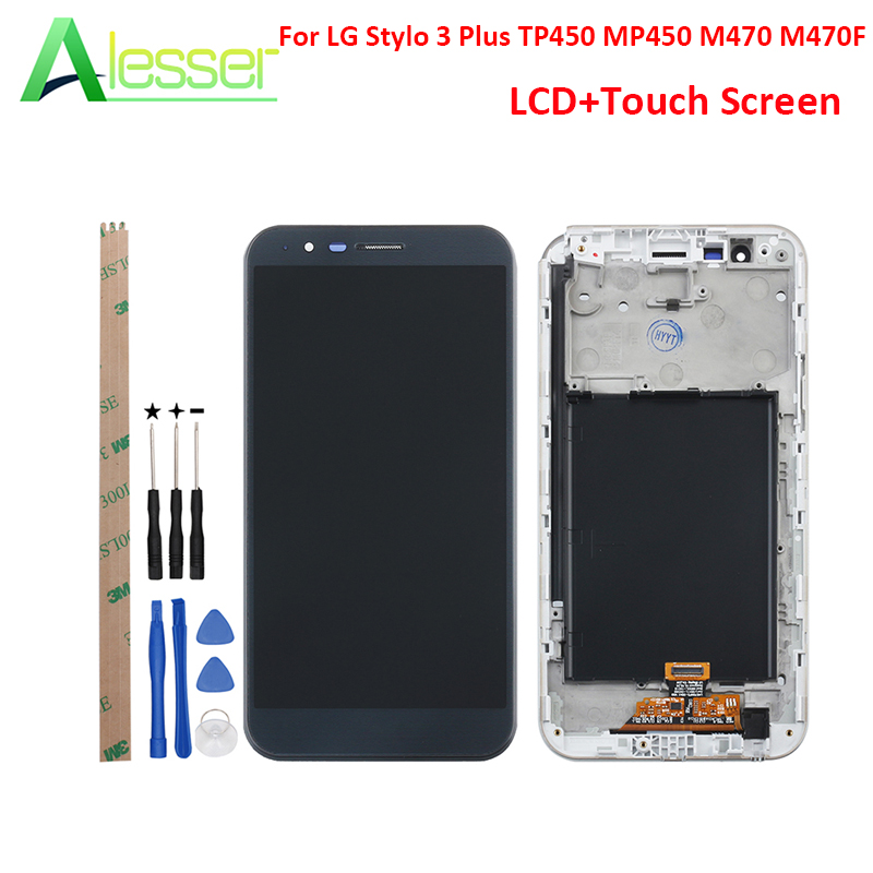 Alesser For LG Stylo 3 Plus TP450 MP450 M470 M470F LCD Display Touch Screen With Frame +Tools Screen Digitizer Replacement 5.7Alesser For LG Stylo 3 Plus TP450 MP450 M470 M470F LCD Display Touch Screen With Frame +Tools Screen Digitizer Replacement 5.7
