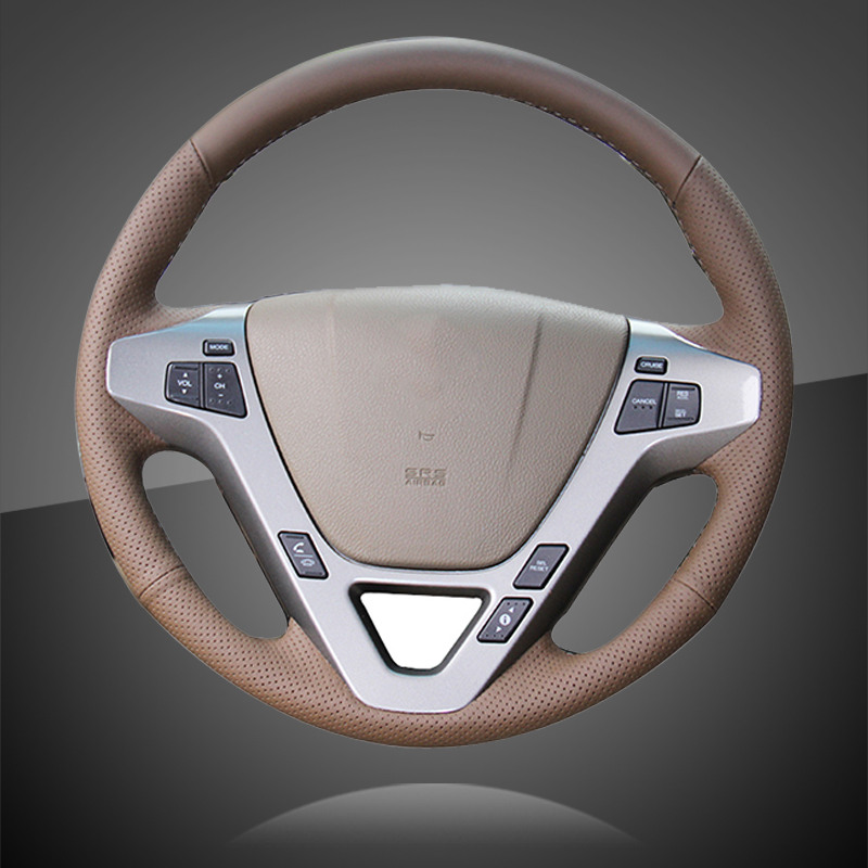 Hand Sewing Car Steering Wheel Cover For Honda Acura MDX