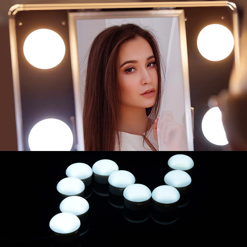Faithful 10pcs Bulb Usb Led Makeup Lamp Kit For Dressing Table Stepless Dimmable Mirror Light 5v Cosmetic Dressing Table Lamp Tools To Have Both The Quality Of Tenacity And Hardness Makeup Tools & Accessories Makeup