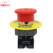 купить Emergency 1NC Equipment Lift Elevator Latching Self Lock Stop Push Button Switch Metallic Material дешево