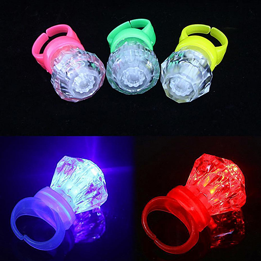 10Pcs LED Children Finger Lights Toys Kids Boys Girls Dazzle Colour Finger Ring Toy Event Party Festival Lantern