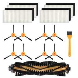 8 кистей + 4 Hepa фильтры + 1 Основные Щетки Для Ecovacs Deebot N79 N79S Роботизированный пылесос, боковые щетки, фильтр, основной B