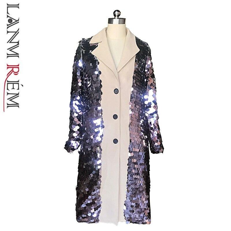 LANMREM 2019 New Spring Both Side Wear Windbeaker For Women Fashion Korean Women Clothing Full Sleeves