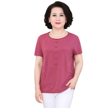 New Fashion Summer Women T Shirt  Short Sleeve O-neck T-shirt Casual Solid Color Tee Shirt Female Clothes Plus Size 5XL цена