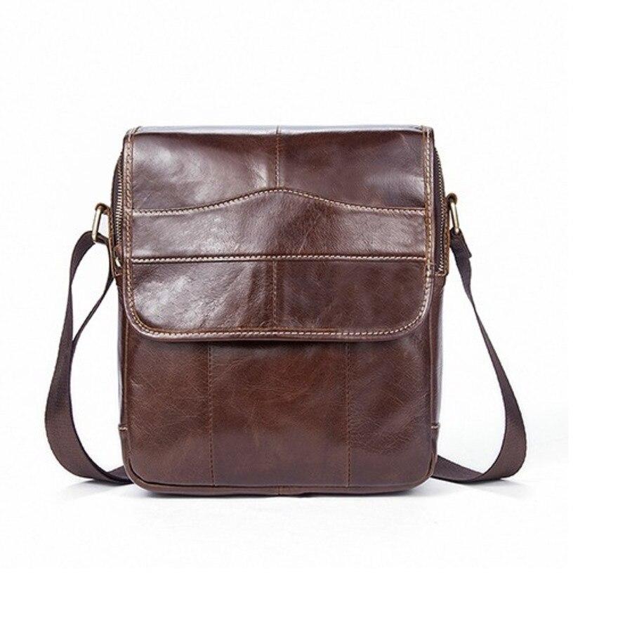 4eb477f200e8 2019 Fashion Men s Crossbody Bags For Men Leather Messenger Small Flap Bag  Male Man Shoulder Genuine