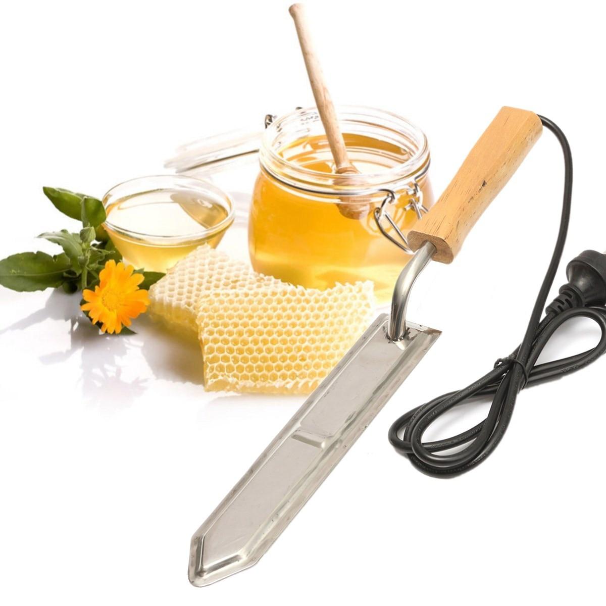 Electric Uncapping Cutter Honey Scraper Extractor Beekeeper Tool Stainless Steel 43 x 5.5cm AU Plug Garden Beekeeping Tools