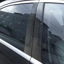 6 peças Do Carro De Fibra De Carbono Janela B pilar de Moldagem Decoração Guarnição Cobertura Para Mercedes Benz Classe GLK 2008 2009 2010 2011 2012 2013