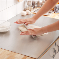 Stainless Steel Kitchen Tool Cutting Table Placemat Pad Pastry Board Backing Dough Rolling Mat