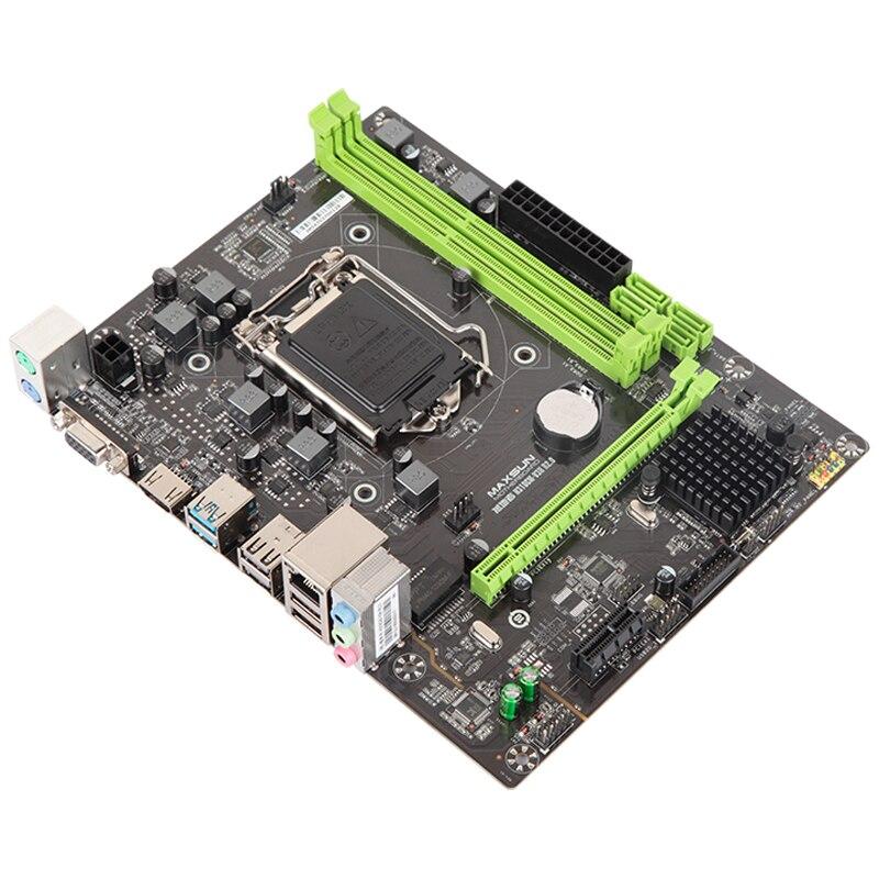 MAXSUN ms-earth shaker H310CM-V3H R2.0 carte mère Intel mATX + SATA3.0 + USB3.0 + Support DDR3 double canal Win7/Win8/Win10